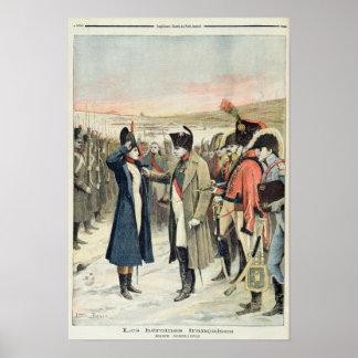 Napoleon Bonaparte que presenta a la hembra Póster