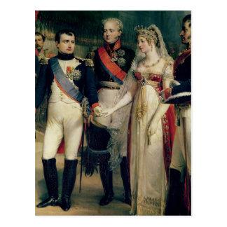 Napoleon Bonaparte que recibe a la reina Louisa Postales
