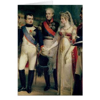 Napoleon Bonaparte que recibe a la reina Louisa Tarjeta De Felicitación