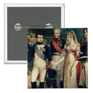 Napoleon Bonaparte  Receiving Queen Louisa 2 Inch Square Button