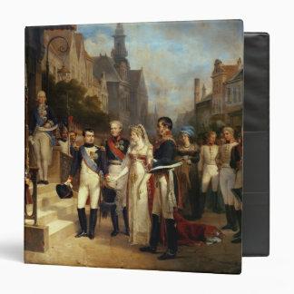 Napoleon Bonaparte Receiving Queen Louisa Vinyl Binder