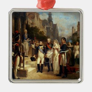 Napoleon Bonaparte Receiving Queen Louisa Metal Ornament