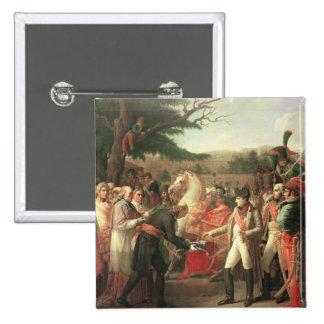 Napoleon Bonaparte  Receiving the Keys 2 Inch Square Button