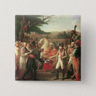 Napoleon Bonaparte  Receiving the Keys Pinback Button