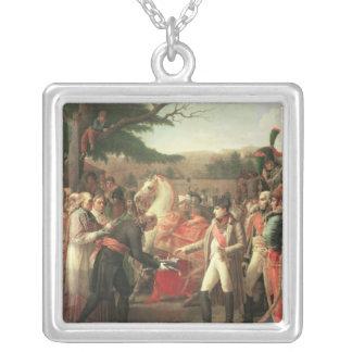 Napoleon Bonaparte  Receiving the Keys Square Pendant Necklace