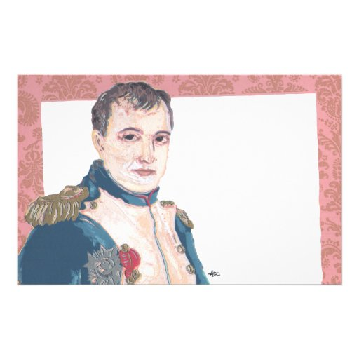 Napoleon Bonaparte Romantic French Stationery