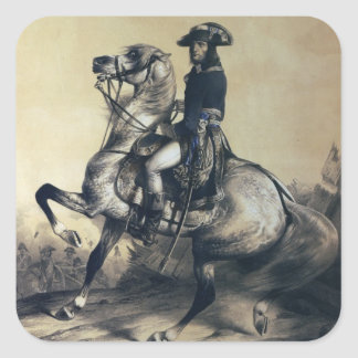 Napoleon Bonaparte Square Sticker