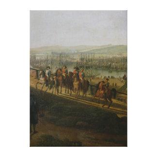 Napoleon Bonaparte  Visiting the Camp at Canvas Print