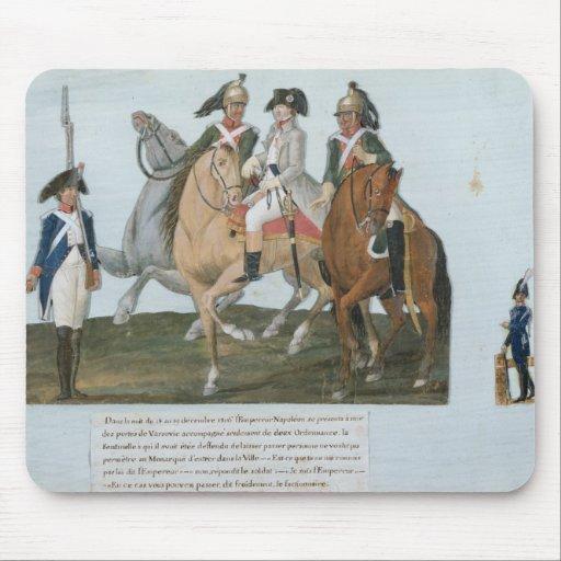 Napoleon Bonaparte y el centinela de Varsovian Tapete De Ratón