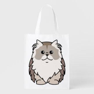 Napoleon Cat Cartoon Grocery Bag
