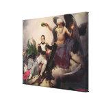 Napoleon coronó por tiempo, antes de 1833 lona estirada galerías