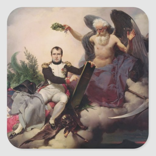 Napoleon coronó por tiempo, antes de 1833 colcomania cuadrada