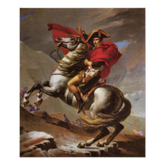 Napoleon crosses the St. Bernard Pass by David Poster