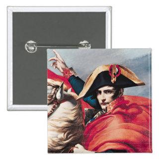 Napoleon  Crossing the Alps 2 Inch Square Button