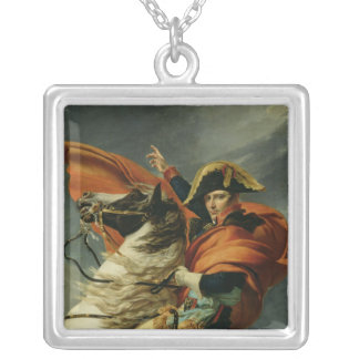 Napoleon  Crossing the Alps 2 Silver Plated Necklace