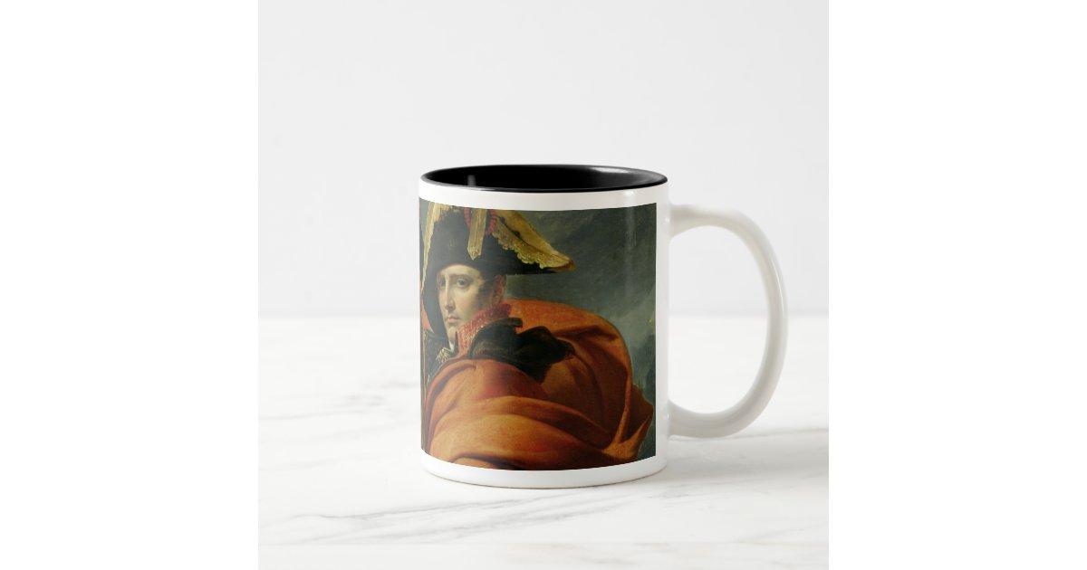 Napoleon Crossing the Alps 2 Two-Tone Coffee Mug | Zazzle