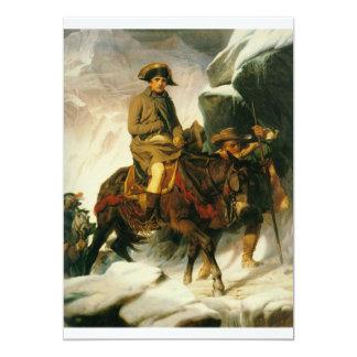 """napoleon crossing the alps 5"""" x 7"""" invitation card"""