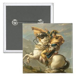 Napoleon  Crossing the Alps at the St Bernard 2 Inch Square Button