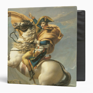 Napoleon  Crossing the Alps at the St Bernard 3 Ring Binder