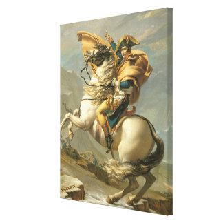 Napoleon  Crossing the Alps at the St Bernard Canvas Print