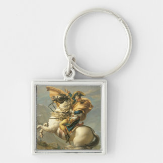 Napoleon  Crossing the Alps at the St Bernard Keychain