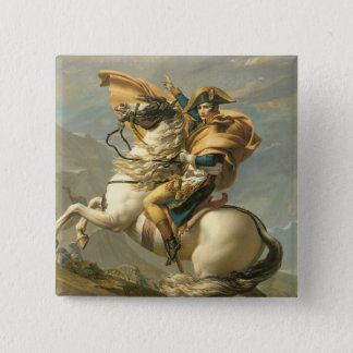 Napoleon  Crossing the Alps at the St Bernard Pinback Button