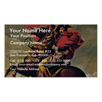 Napoleon Crossing The Alps,  By David Jacques-Loui Business Card