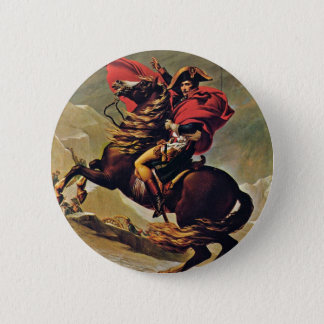 Napoleon Crossing The Alps,  By David Jacques-Loui Pinback Button