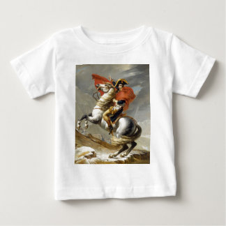 Napoleon Crossing the Alps by Jacques Louis David Baby T-Shirt