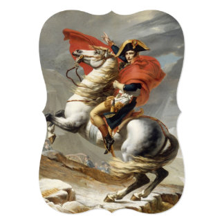 Napoleon Crossing the Alps by Jacques Louis David Card