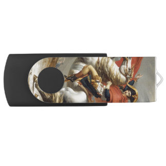Napoleon Crossing the Alps by Jacques Louis David Flash Drive