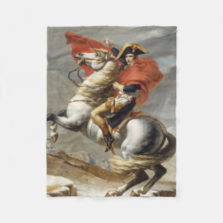 Napoleon Crossing the Alps by Jacques Louis David Fleece Blanket