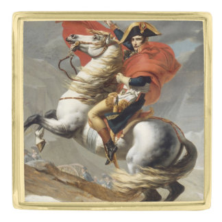 Napoleon Crossing the Alps by Jacques Louis David Gold Finish Lapel Pin