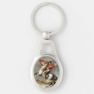 Napoleon Crossing the Alps by Jacques Louis David Keychain