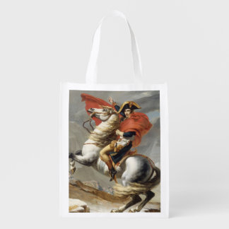 Napoleon Crossing the Alps by Jacques Louis David Market Totes