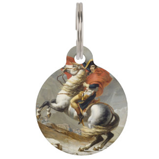 Napoleon Crossing the Alps by Jacques Louis David Pet Name Tag