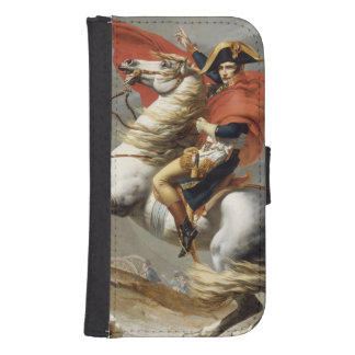 Napoleon Crossing the Alps by Jacques Louis David Galaxy S4 Wallets