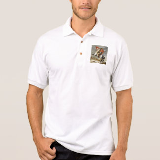 Napoleon Crossing the Alps by Jacques Louis David Polo Shirt