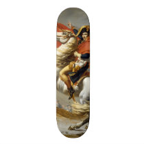 Napoleon Crossing the Alps by Jacques Louis David Skateboard Deck