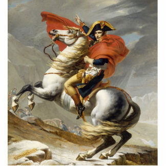 Napoleon Crossing the Alps by Jacques Louis David Statuette