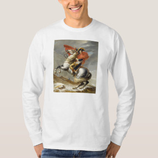 Napoleon Crossing the Alps by Jacques Louis David T-Shirt