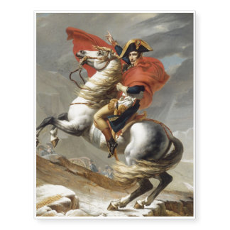 Napoleon Crossing the Alps by Jacques Louis David Temporary Tattoos