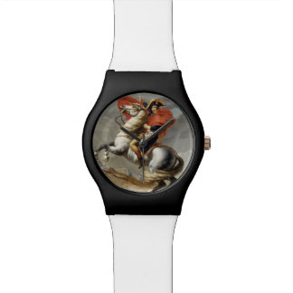 Napoleon Crossing the Alps by Jacques Louis David Wristwatches