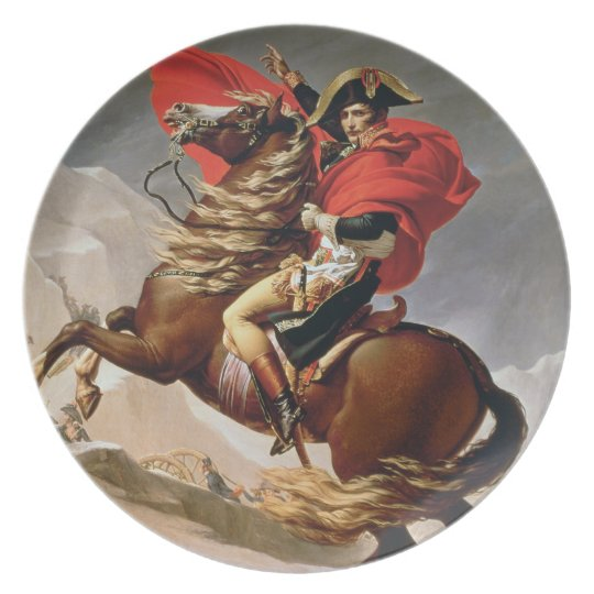 Napoleon Crossing the Alps, c.1800 (oil on canvas) Dinner Plate