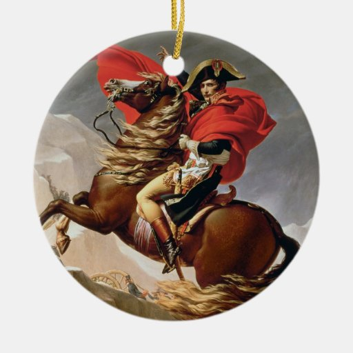 Napoleon Crossing the Alps, c.1800 (oil on canvas) Christmas Ornaments