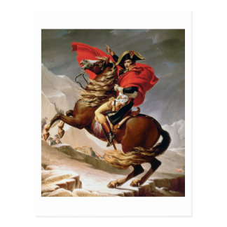 Napoleon Crossing the Alps, c.1800 (oil on canvas) Postcard