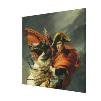 Napoleon  Crossing the Alps Canvas Print