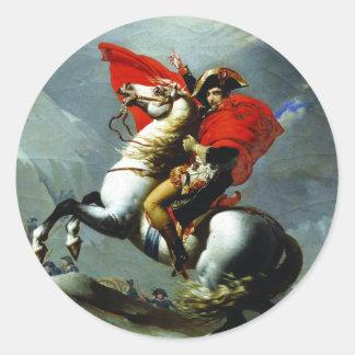 Napoleon Crossing the Alps Classic Round Sticker