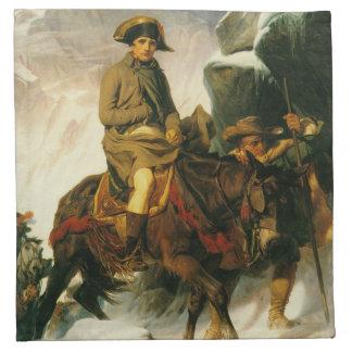 napoleon crossing the alps cloth napkin