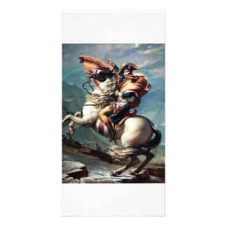 """""""Napoleon Crossing the Alps"""" famous painting photo Photo Cards"""